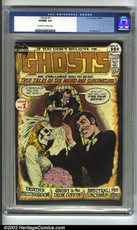 Ghosts #1 (DC, 1971) CGC VF/NM 9.0 Off-white to white pages. Jim Aparo art. Overstreet 2002 NM 9.4 value = $125