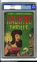 Golden Age (1938-1955):Horror, Haunted Thrills #1 (Farrell, 1952) CGC VG/FN 5.0 Cream to off-whitepages. Overstreet 2002 GD 2.0 value = $43; FN 6.0 value ...