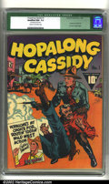 Golden Age (1938-1955):Western, Hopalong Cassidy #1 (Fawcett, 1943) CGC Qualified NM- 9.2 Cream tooff-white pages. CGC notes: centerfold detached. Hopalon...