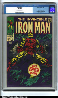 Iron Man #1 (Marvel, 1968) CGC NM 9.4 Off-white to white pages. Gene Colan art. Overstreet 2002 NM 9.4 value = $550