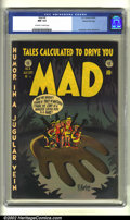 Golden Age (1938-1955):Humor, Mad #6 Gaines File pedigree (EC, 1953) CGC NM 9.4 Off-white to white pages. Overstreet 2002 NM 9.4 value = $750....