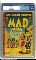 Golden Age (1938-1955):Humor, Mad #9 Gaines File pedigree (EC, 1954) CGC NM- 9.2 Off-white to white pages. Overstreet 2002 NM 9.4 value = $750. ...