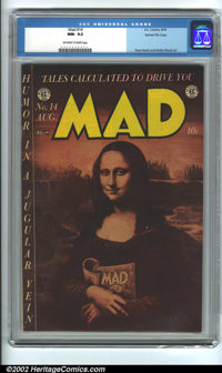 Mad #14 Gaines File pedigree (EC, 1954) CGC NM- 9.2 Off-white to white pages. Overstreet 2002 NM 9.4 value = $600