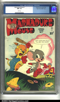 Marmaduke Mouse #1 Mile High pedigree (Quality, 1946) CGC NM+ 9.6 White pages. Overstreet 2002 NM 9.4 value = $160