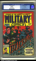 """Golden Age (1938-1955):War, Military Comics #17 """"D"""" Copy pedigree (Quality, 1943) CGC FN 6.0Off-white to white pages. P.T. Boat begins. Reed Crandall ..."""