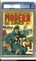 Golden Age (1938-1955):War, Modern Comics #54 Big Apple pedigree (Quality, 1946) CGC VF 8.0Off-white pages. Bryant cover. Crandall/Ward art. Overstreet...
