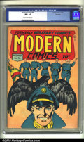 Golden Age (1938-1955):War, Modern Comics #56 Big Apple pedigree (Quality, 1946) CGC NM- 9.2Cream to off-white pages. Reed Crandall and Bill Ward art. ...
