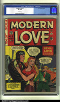 Golden Age (1938-1955):Romance, Modern Love #2 (EC, 1949) CGC VG 4.0 Off-white pages. Overstreet2002 GD 2.0 value = $41; FN 6.0 value = $123....