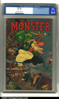 Golden Age (1938-1955):Horror, Monster #1 (Fiction House, 1953) CGC VF- 7.5 Cream to off-whitepages. Overstreet 2002 VF 8.0 value = $300....