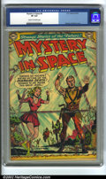 Golden Age (1938-1955):Science Fiction, Mystery in Space #9 (DC, 1952) CGC VF 8.0 Cream to off-white pages.Murphy Anderson cover. Overstreet 2002 VF 8.0 value = $3...
