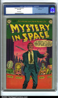 Golden Age (1938-1955):Science Fiction, Mystery in Space #10 Bethlehem pedigree (DC, 1952) CGC VF 8.0Off-white pages. Murphy Anderson cover and art. Overstreet 200...