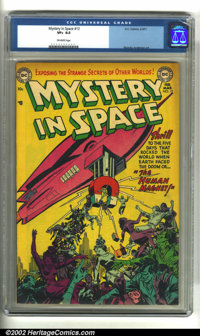 Mystery in Space #12 (DC, 1953) CGC VF+ 8.5 Off-white pages. Murphy Anderson art. Overstreet 2002 VF 8.0 value = $278...