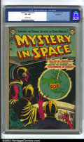 Golden Age (1938-1955):Science Fiction, Mystery in Space #13 Bethlehem pedigree (DC, 1953) CGC VF+ 8.5Off-white pages. Overstreet 2002 VF 8.0 value = $278....