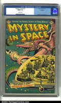 Golden Age (1938-1955):Science Fiction, Mystery in Space #14 Bethlehem pedigree (DC, 1953) CGC FN/VF 7.0Off-white pages. Overstreet 2002 FN 6.0 value = $110; VF 8....