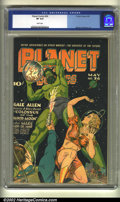 Golden Age (1938-1955):Science Fiction, Planet Comics #36 (Fiction House, 1945) CGC VF 8.0 White pages.Murphy Anderson art. Overstreet 2002 VF 8.0 value = $483....