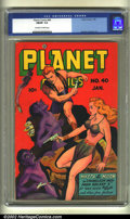 Golden Age (1938-1955):Science Fiction, Planet Comics #40 (Fiction House, 1946) CGC FN/VF 7.0 Off-white towhite pages. Murphy Anderson art. Overstreet 2002 FN 6.0 ...