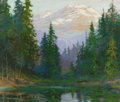 Fine Art - Painting, American:Contemporary   (1950 to present)  , DAVID STIRLING (American, 1887-1971). Colorado Mountains.Oil on board. 25 x 30 inches (63.5 x 76.2 cm). Signed lower le...