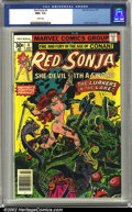 Bronze Age (1970-1979):Miscellaneous, Red Sonja #1 (Marvel, 1977) CGC NM+ 9.6 White pages. Frank Thomasart. Overstreet 2002 NM 9.4 value = $10. ...