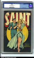 """Golden Age (1938-1955):Adventure, Saint #4 (Avon, 1948) CGC VF- 7.5 Cream to off-white pages. Incredible Matt Baker cover. CGC notes read, """"Very minor amount ..."""