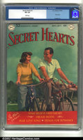 Golden Age (1938-1955):Romance, Secret Hearts #1 (DC, 1949) CGC FN 6.0 White pages. Photo cover andKinstler art. Overstreet 2002 FN 6.0 value = $165....