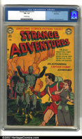 Golden Age (1938-1955):Science Fiction, Strange Adventures #13 Bethlehem pedigree (DC, 1951) CGC FN+ 6.5Off-white pages. Overstreet 2002 FN 6.0 value = $138....
