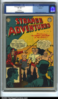 Golden Age (1938-1955):Science Fiction, Strange Adventures #15 Bethlehem pedigree (DC, 1951) CGC VF+ 8.5Off-white pages. Anderson, Infantino and Kane art. Overstre...
