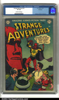 Golden Age (1938-1955):Science Fiction, Strange Adventures #16 Bethlehem pedigree (DC, 1952) CGC VF 8.0Off-white to white pages. Anderson, Infantino and Kane art. ...