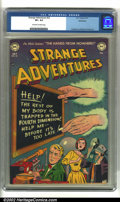 Golden Age (1938-1955):Science Fiction, Strange Adventures #22 Bethlehem pedigree (DC, 1952) CGC VF+ 8.5Off-white to white pages. Anderson, Infantino and Kane art....