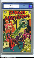 Golden Age (1938-1955):Science Fiction, Strange Adventures #25 Bethlehem pedigree (DC, 1952) CGC VF 8.0Off-white to white pages. Anderson, Infantino and Kane art. ...