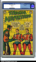 Golden Age (1938-1955):Science Fiction, Strange Adventures #27 Bethlehem pedigree (DC, 1952) CGC VF- 7.5Off-white pages. Anderson, Infantino and Kane art. Overstre...