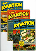 Golden Age (1938-1955):War, True Aviation Picture Stories Group (Parents' Magazine Institute,1942-44) Condition: Average VG/FN.... (Total: 4 Comic Books)