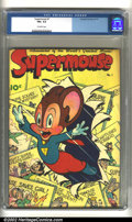 Golden Age (1938-1955):Funny Animal, Supermouse #1 (Standard, 1948) CGC FN+ 6.5 Off-white pages.Frazetta text illustrations. Overstreet 2002 FN 6.0 value = $90....