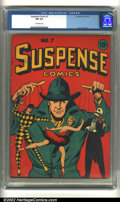 Golden Age (1938-1955):Miscellaneous, Suspense Comics #7 (Continental Magazines, 1944) CGC FN 6.0 Off-white pages. L.B. Cole cover. Overstreet 2002 FN 6.0 value =...