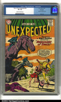 Silver Age (1956-1969):Science Fiction, Tales of the Unexpected #54 Big Apple pedigree (DC, 1960) CGC VF+8.5 Cream to off-white pages. Dinosaur cover and story. Ov...