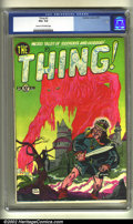 Golden Age (1938-1955):Horror, The Thing! #2 (Charlton, 1952) CGC VG+ 4.5 Cream to off-whitepages. Overstreet 2002 GD 2.0 value = $55; FN 6.0 value = $165...