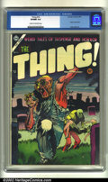 Golden Age (1938-1955):Horror, The Thing! #16 (Charlton, 1954) CGC VF/NM 9.0 Cream to off-whitepages. Injury to eye panel. Dick Ayers art. Overstreet 2002...
