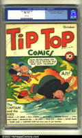 Golden Age (1938-1955):Miscellaneous, Tip Top Comics #42 Mile High pedigree (United Features Syndicate, 1939) CGC FN+ 6.5 White pages. The Captain and the Kids. O...