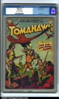 Golden Age (1938-1955):Adventure, Tomahawk #11 Mohawk Valley pedigree (DC, 1952) CGC NM- 9.2 Cream to off-white pages. Overstreet 2002 NM 9.4 value = $215....