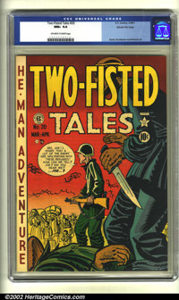 Two-Fisted Tales #20 Gaines File pedigree (EC, 1951) CGC NM+ 9.6 Off-white to white pages. Overstreet 2002 NM 9.4 value...