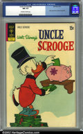Bronze Age (1970-1979):Cartoon Character, Uncle Scrooge #98 (Dell, 1972) CGC NM 9.4 Off-white to white pages.Overstreet 2002 NM 9.4 value = $45....