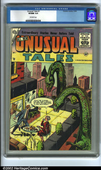 Unusual Tales #1 (Charlton, 1955) CGC VF/NM 9.0 Off-white pages. Overstreet 2002 NM 9.4 value = $270