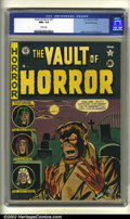 Golden Age (1938-1955):Horror, Vault of Horror #17 Gaines File pedigree (EC, 1951) CGC NM+ 9.6White pages. Overstreet 2002 NM 9.4 value = $525....