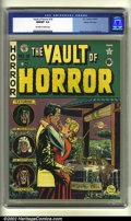 Golden Age (1938-1955):Horror, Vault of Horror #18 Gaines File pedigree (EC, 1951) CGC NM/MT 9.8Off-white to white pages. Overstreet 2002 NM 9.4 value = $...