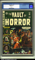 Golden Age (1938-1955):Horror, Vault of Horror #20 Gaines File pedigree (EC, 1951) CGC NM/MT 9.8White pages. Overstreet 2002 NM 9.4 value = $425....