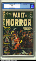 Golden Age (1938-1955):Horror, Vault of Horror #20 (EC, 1951) CGC VG+ 4.5 Off-white to whitepages. Overstreet 2002 GD 2.0 value = $34; FN 6.0 value = $202...