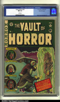 Golden Age (1938-1955):Horror, Vault of Horror #22 Gaines File pedigree (EC, 1951) CGC NM 9.4White pages. Overstreet 2002 NM 9.4 value = $425....