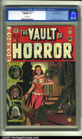 Golden Age (1938-1955):Horror, Vault of Horror #23 Gaines File pedigree (EC, 1952) CGC NM/MT 9.8Off-white pages. Overstreet 2002 NM 9.4 value = $425....
