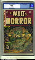 Golden Age (1938-1955):Horror, Vault of Horror #27 (EC, 1952) CGC FN+ 6.5 Off-white pages. CGCnotes: Rusted staple. Overstreet 2002 FN 6.0 value = $81....