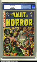 Golden Age (1938-1955):Horror, Vault of Horror #28 Gaines File pedigree (EC, 1953) CGC NM/MT 9.8Off-white pages. Overstreet 2002 NM 9.4 value = $335....