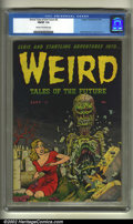 Golden Age (1938-1955):Horror, Weird Tales of the Future #3 (Aragon, 1952) CGC FN/VF 7.0 Cream tooff-white pages. Basil Wolverton cover and art. Overstre...